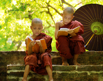 Novice monks Burma