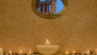 Dinner at Hotel Villa Athena overlooking the Temple of Concordia, Sicily