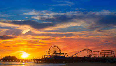 santa monica sunset shutterstock_156377387_400_230