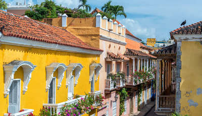 colonial buildings and balconies in the historic center of cartagena, colombia_400_230