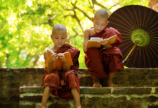 Novice monks, Burma (Myanmar)